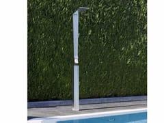 Colonna doccia da terra in ottone con soffioneSHARP | Colonna doccia da terra - TECH RAIN