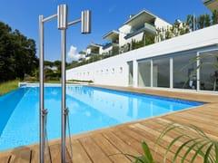 Antonio Lupi Design, SHAWÀ 2 Colonna doccia da terra in acciaio inox con soffione
