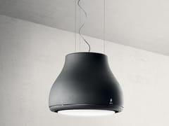 Cappa ad isola in metallo in stile moderno con illuminazione integrataSHINING - ELICA