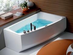 Vasca da bagno asimmetrica idromassaggio in acrilico SHIVA' -