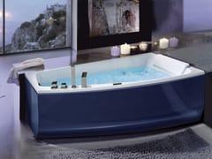 Vasca da bagno asimmetrica idromassaggio in acrilico SHIVA' COLOR -