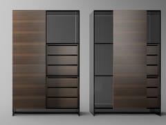 Credenza componibile in legno e vetro con ante scorrevoliSHOJI | Credenza - T.D. TONELLI DESIGN