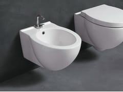 Bidet sospeso in ceramica SHORT | Bidet sospeso - Short