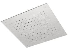 Soffione doccia a soffitto da incasso in acciaio inox SHOWERS STEEL - 8572468 - ShowersSteel