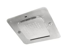 Fir Italia, SHOWERSSTEEL - 8572348 Soffione doccia a LED a soffitto in acciaio inox