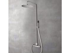 Glass1989, SHOWERTUBE Colonna doccia a parete in ottone