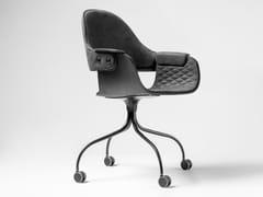 Sedia girevole imbottita con ruoteSHOWTIME | Sedia con ruote - BD BARCELONA DESIGN