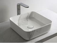 Lavabo da appoggio quadrato in ceramicaSHUI COMFORT | Lavabo quadrato - CERAMICA CIELO