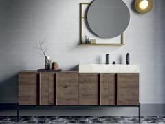Mobile lavabo singolo in derivati del legno con anteSIDÉRO COMP. 1 - BIREX