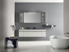Mobile lavabo doppio laccato sospeso in legno impiallacciatoSIDÉRO COMP. 10 - BIREX