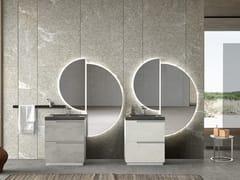 Mobile lavabo da terra con cassetti con specchioSIDE 03 - ARCHEDA