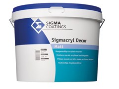 Pittura murale acrilica lavabile per interni ed esterniSIGMACRYL DECOR - SIGMA COATINGS