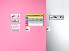 Cartello segnalatore personalizzabile per interniSistema di segnalazione - PLANNING SISPLAMO
