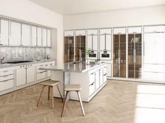 Cucina professionale in acciaio con isolaSIGNAL WHITE & POLISHED CHROME - OFFICINE GULLO
