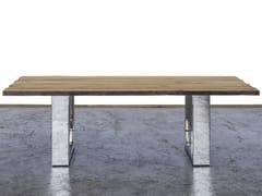 Tavolo da pranzo rettangolare in legno di recuperoSILE - A&B ROSA DEI LEGNI BY ANTICA EDILIZIA