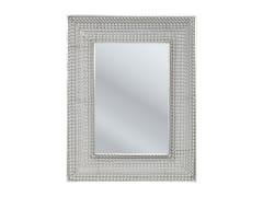 Specchio rettangolare da parete con cornice SILVER PEARLS 90 x 70 -