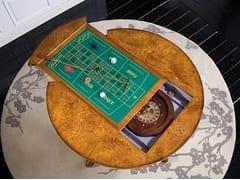 Tavolo da backgammon rotondo in legno massello SILVIA | Tavolo da backgammon - Silvia