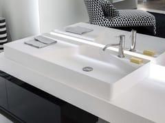 Lavabo da appoggio rettangolare in Flumood® SIMPLO | Lavabo rettangolare -