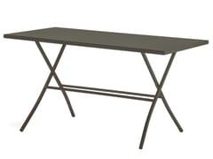 Tavolo da giardino pieghevole rettangolare SIRIO 140x70 -