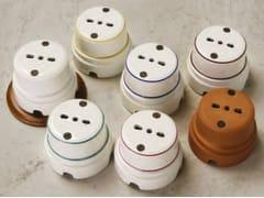 Presa elettrica singola in ceramicaSIRIO   Presa elettrica - ALDO BERNARDI