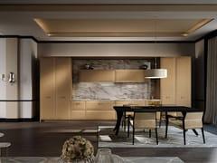 SCIC, SIRMIONE Cucina componibile lineare in legno