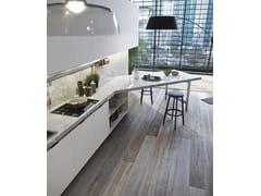 Cucina laccata con penisolaSISTEMA 22 - AMBIENTE 03 - ALTA