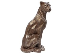Soprammobile in resina SITTING CAT RIVET COPPER -
