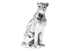 Soprammobile in resina SITTING CAT RIVET CHROME -