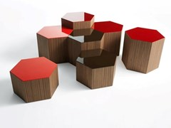 Tavolino esagonale in legno masselloSIX - BROSS ITALIA