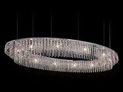 LAMPADA A SOSPENSIONE A LUCE DIRETTA IN METALLO CON CRISTALLISKY CYCLES OVAL H12 - ILFARI