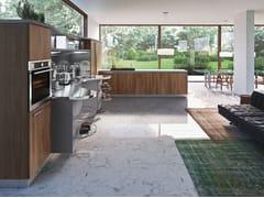 Cucina componibile ergonomica in stile moderno con maniglie SKYLINE 2.0   Cucina con isola - ICONE