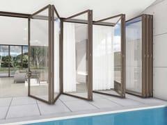 CARMINATI SERRAMENTI, SKYLINE BIFOLD Porta-finestra a libro in legno