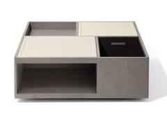Tavolino quadrato in legno in stile moderno con vano contenitore da salottoSKYLINE   Tavolino quadrato - GIORGETTI