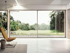 Porta-finestra scorrevole in alluminio e legno SLIM 80 LA - Slim