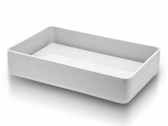Lavabo da appoggio rettangolare in resina SLIM BORDER | Lavabo rettangolare - SLIM BORDER