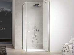 Box doccia angolare con porta battente e lato fisso SLIM SLPO+SLFI - Slim