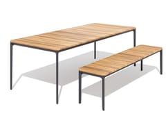 Tavolo da giardino rettangolare in teakSLIM | Tavolo in teak - SOVET ITALIA
