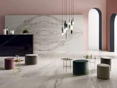 LEA CERAMICHE, SLIMTECH DELIGHT INVISIBLE LIGHT Pavimento/rivestimento in gres laminato effetto marmo