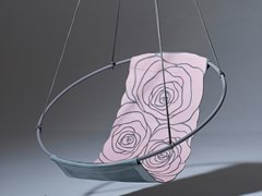Poltrona sospesa in cuoioSLING ROSE - STUDIO STIRLING
