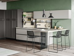 Cucina componibile con penisolaSMART 1 - CREO KITCHENS BY LUBE