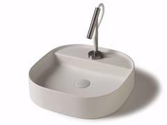 Lavabo da appoggio quadrato in ceramica SMART B - 45x45 cm - Smart B