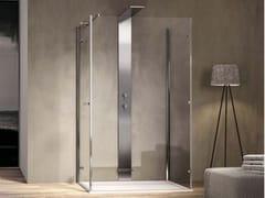 Box doccia con porta a battente e doppio lato fisso SMART SM2F+SMPO - Smart