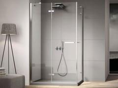 DISENIA, SMART SMPOx2 Box doccia con porta angolare a doppio battente