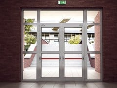 Porta d'ingresso resistente al fuocoSMARTIA M11500 FR - ALUMIL