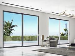 Porta-finestra scorrevole con doppio vetroSMARTIA M45000 - ALUMIL