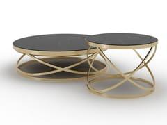 Tavolino da caffè rotondo in metalloSMITH - F.LLI PIERMARIA