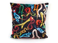 Cuscino quadrato in tessuto SNAKES | Cuscino - Seletti wears Toiletpaper