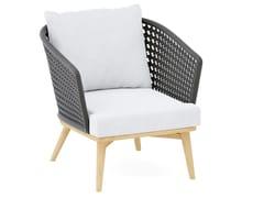 Sedia imbottita in tessuto acrilico con braccioliSOGNI | Sedia con braccioli - JARDINICO