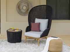 Poltrona da giardino in tessuto acrilico con schienale altoSOGNI | Poltrona da giardino - JARDINICO