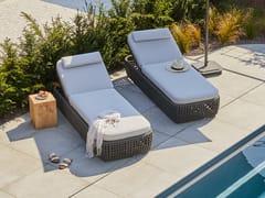 Lettino da giardino reclinabile in tessuto acrilicoSOGNI | Lettino da giardino - JARDINICO